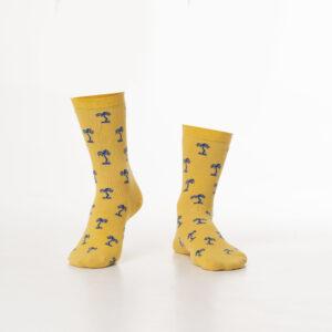 Gele palm sokken