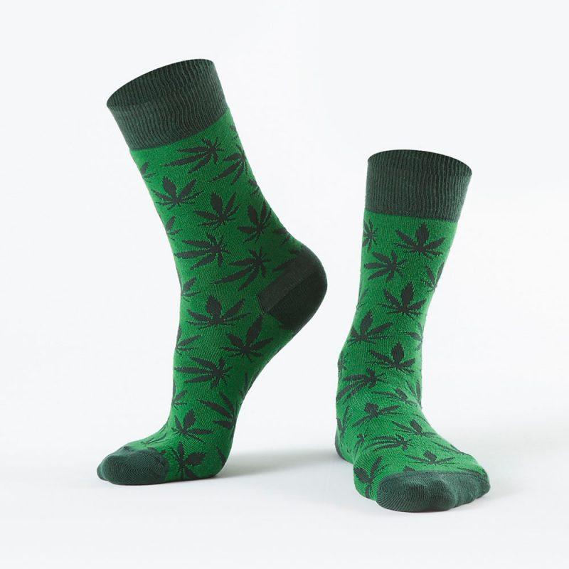 Green Weed Socks
