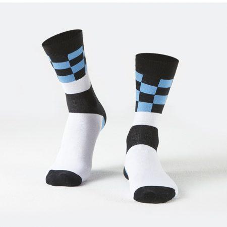 Blue Square Patterns Socks