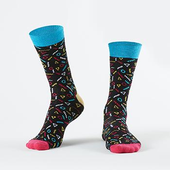 Black Colored Patterned Socks