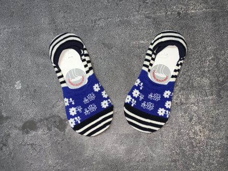 Flowers Babet Low Cut Socks - Blue