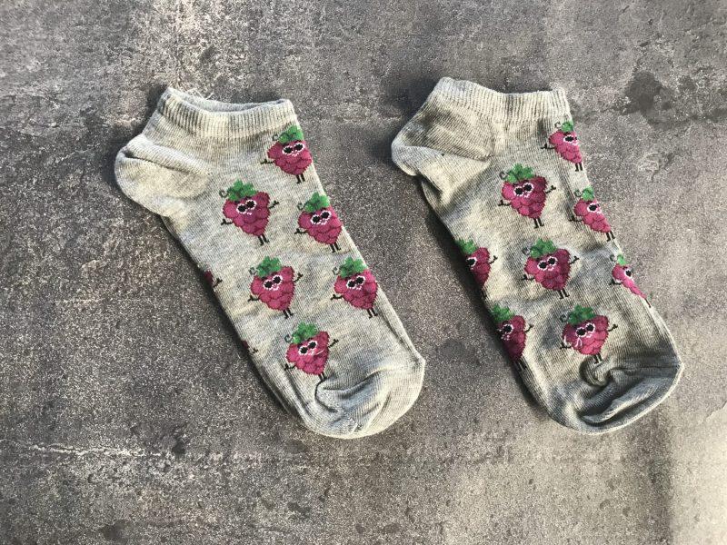 Grape Ankle Low Cut Socks - Gray