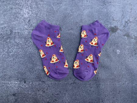 Pizza Ankle Low Cut Socks - Purple