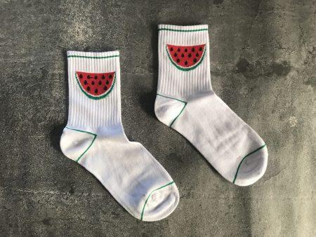 Tennis Watermelon Socks - White