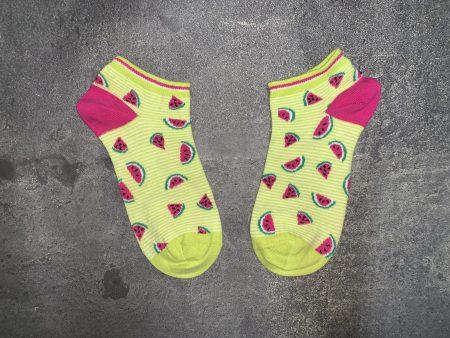 Watermelon Ankle Low Cut Socks - Yellow