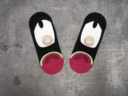 Watermelon Babet Low Cut Socks - Black