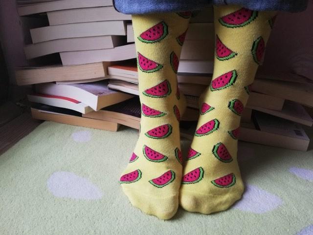 Watermelon Socks - Yellow