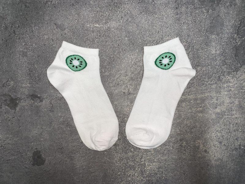 Kiwi Ankle Low Cut Socks - White