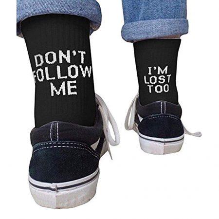 Don't Follow Me I am Lost too Socks