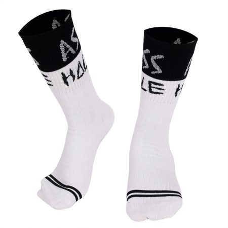 Ass Hole Socks Black - White