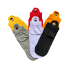 6 Pairs Embroidered Sesame Street Characters Socks Box Bundle Pack