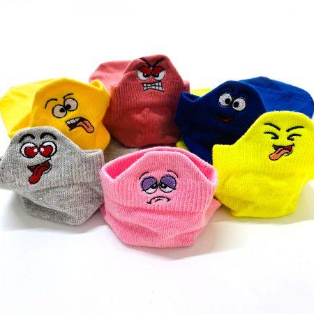 6 Pairs Funny Emojis Low Cut Socks Box Bundle Pack